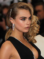 "NEW YORK CITY, NY, USA - MAY 05: Cara Delevigne at the ""Charles James: Beyond Fashion"" Costume Institute Gala held at the Metropolitan Museum of Art on May 5, 2014 in New York City, New York, United States. (Photo by Xavier Collin/Celebrity Monitor)"