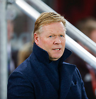 16th November 2019; Windsor Park, Belfast, Antrim County, Northern Ireland; European Championships 2020 Qualifier, Northern Ireland versus Netherlands; Ronald Koeman Netherlands coach during the playing of the national anthems  - Editorial Use
