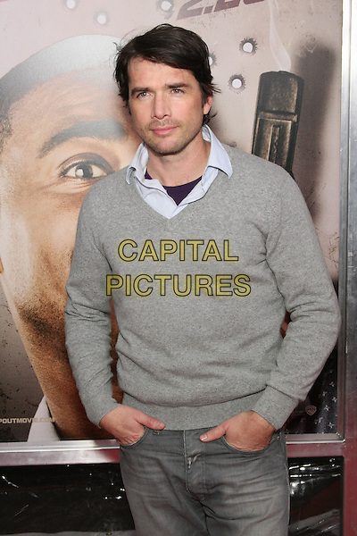 "MATTHEW SETTLE .World Premiere of ""Cop Out"" at AMC Loews Lincoln Square 13 in New York City, NY, USA, 22nd February 2010. arrivals half length grey gray jumper sweater v-neck shirt hands in pockets .CAP/LNC/TOM.©LNC/Capital Pictures"