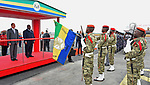 Egyptian President Abdel Fattah Sisi bids farewell to Libreville the capital of Gabon, on August 16, 2017. Photo by Egyptian President Office