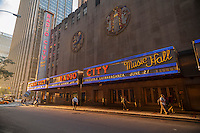 Cablevision controlled Radio City Music Hall in Rockefeller Center in Midtown Manhattan in New York on Tuesday, June 16, 2015. (© Richard B. Levine)