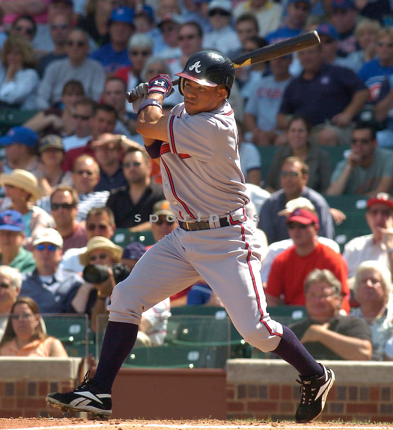 Rafael Furcal, of the Atlanta Braves, in action against the Chicago Cubs , on August 24, 2005...White Sox win 10-1...Chris Bernacchi / SportPics