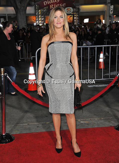 Jennifer Aniston at  Wanderlust Premiere at the  Westwood Village Theatre In Los Angeles.