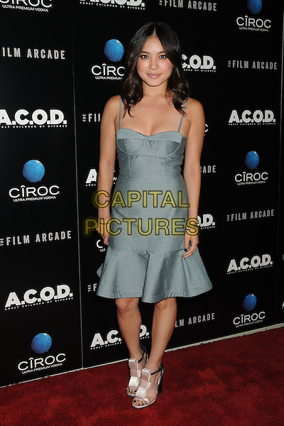 Samantha Duenas <br /> &quot;A.C.O.D.&quot; Los Angeles Premiere held at the Landmark Theatre, Los Angeles, California, USA, <br /> 26th September 2013.<br /> full length grey gray green dress bustier <br /> CAP/ADM/BP<br /> &copy;Byron Purvis/AdMedia/Capital Pictures