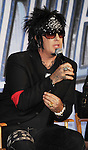 HOLLYWOOD, CA - MARCH 20: Nikki Sixx of Motley Crue attends the 'Kiss, Motley Crue: The Tour' Press Conference at Hollywood Roosevelt Hotel on March 20, 2012 in Hollywood, California.