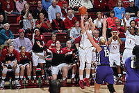 STANFORD, CA - February 27, 2014: Stanford Cardinal's Karlie Samuelson during Stanford's 83-60 victory over Washington at Maples Pavilion.