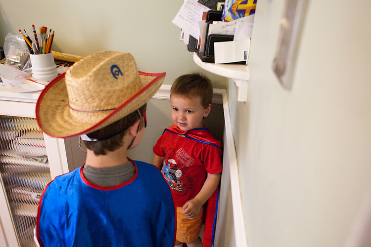 Conflict brews in the midst of a costume dress up session with my sons, age five and age two.