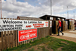 Welcome signs outside Latimer Park. Kettering Town 1 Leiston 2, Evo Stick Southern League Premier Central, Latimer Park. Kettering Town are a famous name in non-league football. After financial problems, relegations, and relocation, the club are once again upwardly mobile. Despite losing to Leiston, Kettering finished the season as Champions and were promoted to the National League North.