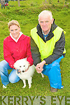Catriona and Seamus McEnery, Causeway with there dog Jap enjoying the Kerry Harvest Fair at Tralee Mart on Sunday.