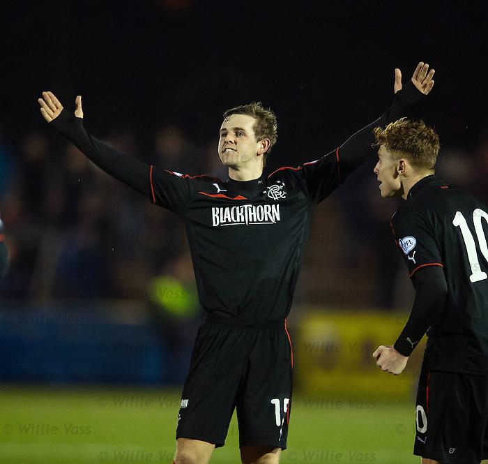 David Templeton celebrates his goal