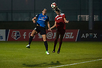 Kansas City, MO - Saturday May 27, 2017: Brittany Taylor, Havana Solaun during a regular season National Women's Soccer League (NWSL) match between FC Kansas City and the Washington Spirit at Children's Mercy Victory Field.