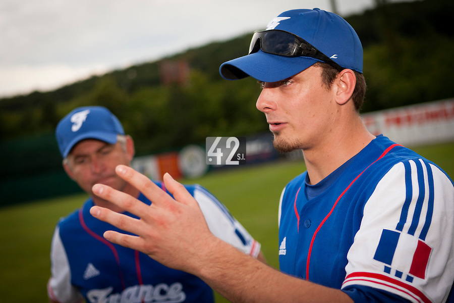 22 June 2011: Paul Mildren is seen after AIST Alumni 5-3 win over France, at the 2011 Prague Baseball Week, in Prague, Czech Republic.