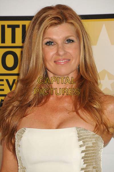 Connie Britton.1st Annual Critics' Choice Television Awards held at The Beverly Hills Hotel, Beverly Hills, California, USA, .20th June 2011..portrait headshot gold strapless cream white .CAP/ADM/BP.©Byron Purvis/AdMedia/Capital Pictures.