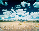 USA, California, Death Valley National Park, Furnace Creek with mountain in background