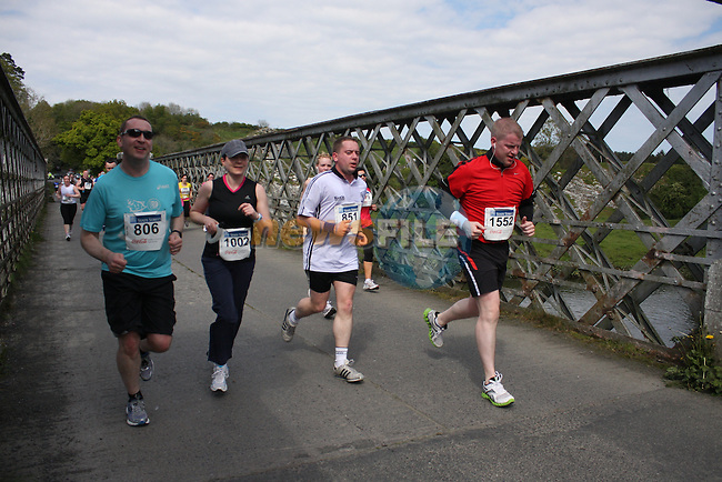 the Boyne 10K run half way mark.Picture  www.newsfile.ie..