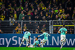 05.11.2019, Signal Iduna Park, Dortmund , GER, Champions League, Gruppenphase, Borussia Dortmund vs Inter Mailand, UEFA REGULATIONS PROHIBIT ANY USE OF PHOTOGRAPHS AS IMAGE SEQUENCES AND/OR QUASI-VIDEO<br /> <br /> im Bild | picture shows:<br /> Jubel, Torjubel Inter Mailand nach dem Tor zum 0:1 durch Lautaro Martinez (Inter #10), <br /> <br /> Foto © nordphoto / Rauch