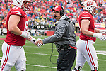 Wisconsin Badgers Head Coach Paul Chryst during an NCAA College Big Ten Conference football game against the Purdue Boilermakers Saturday, October 14, 2017, in Madison, Wis. The Badgers won 17-9. (Photo by David Stluka)