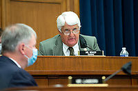 Rep. Rob Bishop (R-Utah) is seen during a House Natural Resources Committee hearing onMonday, June 29, 2020 to discuss the recent incident with U.S. Park Police removing protesters and journalists on June 1st at St. John's Episcopal Church near the White House for President Trump to conduct a photo op.<br /> Credit: Bonnie Cash / Pool via CNP / MediaPunch