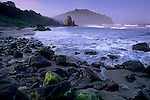 Morning light over Trinidad Head, Trinidad State Beach, Humboldt County, California