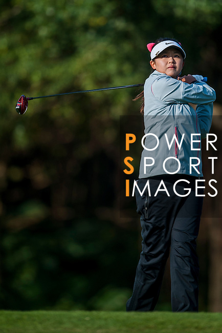 Simin Feng of China in action during the Hyundai China Ladies Open 2014 on December 13 2014, in Shenzhen, China. Photo by Xaume Olleros / Power Sport Images