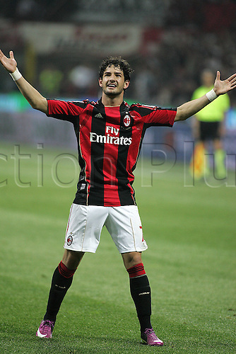 02 04 2011 AC Milan versus Inter Milan. Pato  scores the  first Goal