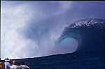 May 2000. A view from the lineup at Teahupoo during the Gotcha Pro 2000.