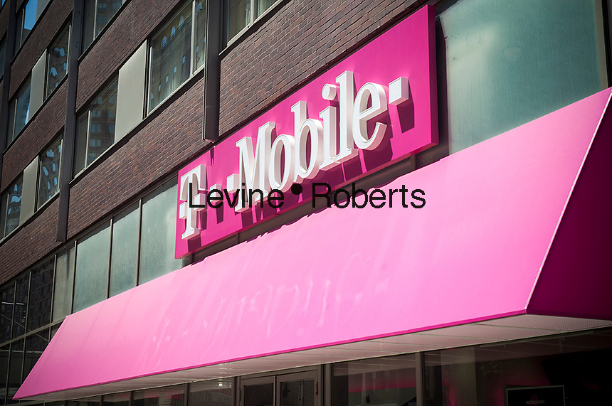 A T-Mobile USA store is seen in midtown Manhattan in New York on Sunday, May 21, 2017. (© Richard B. Levine)