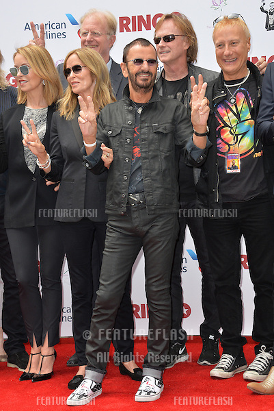 Ringo Starr &amp; wife Barbara Bach &amp; friends at photocall at Capitol Records, Hollywood, to celebrate his 75th birthday.<br /> July 7, 2015  Los Angeles, CA<br /> Picture: Paul Smith / Featureflash