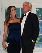 Greg Norman and Kirsten Norman arrive for the State Dinner hosted by United States President Donald J. Trump and First lady Melania Trump in honor of Prime Minister Scott Morrison of Australia and his wife, Jenny Morrison, at the White House in Washington, DC on Friday, September 20, 2019.<br /> Credit: Ron Sachs / Pool via CNP