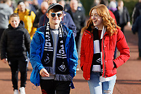 Young Swansea fans walk outside the stadium prior to the Sky Bet Championship match between Swansea City and Cardiff City at the Liberty Stadium, Swansea, Wales, UK. Sunday 27 October 2019