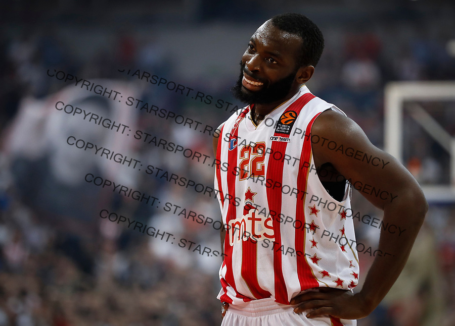 Kosarka Euroleague season 2016-2017<br /> Crvena Zvezda v Olympiacos (Athens)<br /> Charles Jenkins reacts<br /> Beograd, 22.03.2017.<br /> foto: Srdjan Stevanovic/Starsportphoto &copy;