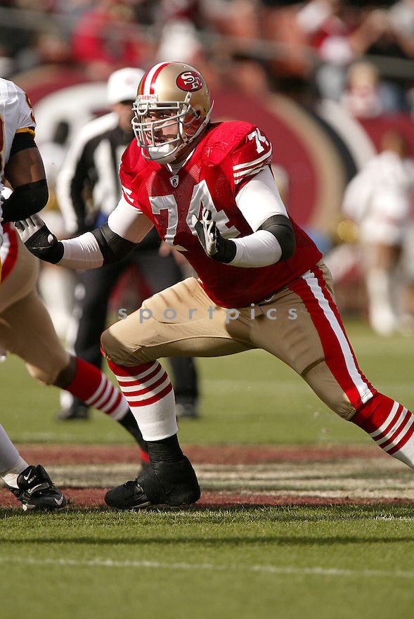 JOE STALEY, of the San Francisco 49ers  , in action  during the 49ers game against the Washington Redskin on December 28, 2008 in San Francisco, CA...49ers win 27-24