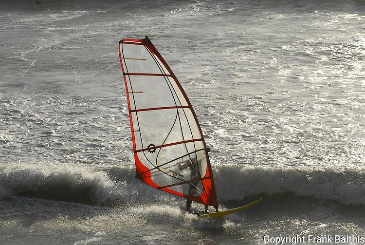 windsurfer at Waddell Beach