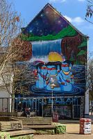 Wandbild  des brasilianischen K&uuml;nstlers Cranio der Marktstra&szlig;e im Karolinenviertel, Hamburg - St.Pauli, Deutschland<br /> Mural of Brasilian Artist Cranio in Marktstr., Hamburg, Germany, Europe