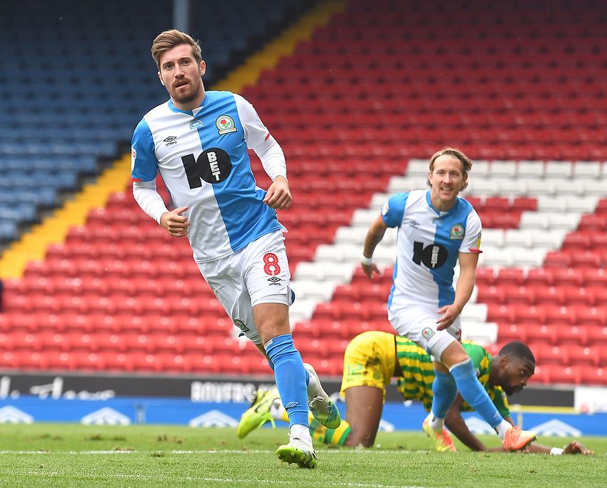 Blackburn Rovers' Joe Rothwell celebrates scoring his equalising goal<br /> <br /> Photographer Dave Howarth/CameraSport<br /> <br /> The EFL Sky Bet Championship - Blackburn Rovers v West Bromwich Albion - Saturday 11th July 2020 - Ewood Park - Blackburn <br /> <br /> World Copyright © 2020 CameraSport. All rights reserved. 43 Linden Ave. Countesthorpe. Leicester. England. LE8 5PG - Tel: +44 (0) 116 277 4147 - admin@camerasport.com - www.camerasport.com