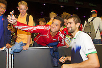 September 14, 2014, Netherlands, Amsterdam, Ziggo Dome, Davis Cup Netherlands-Croatia, Thiemo de Bakker (NED)<br /> Photo: Tennisimages/Henk Koster