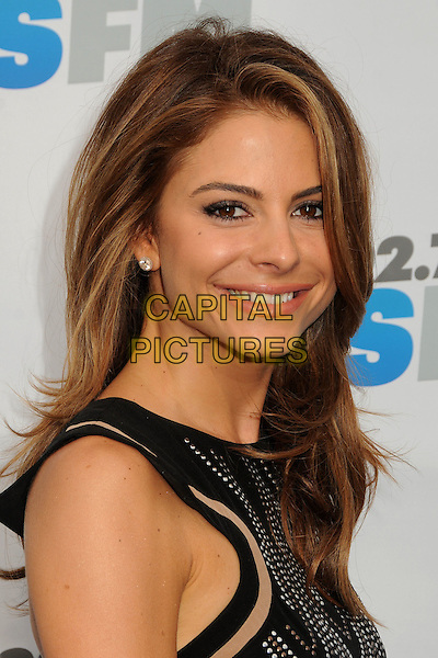 Maria Menounos.KIIS FMs Wango Tango 2012 held at the Home Depot Center, Carson, California, USA, 12th May 2012..portrait headshot  black smiling studded studs side .CAP/ADM/BP.©Byron Purvis/AdMedia/Capital Pictures.