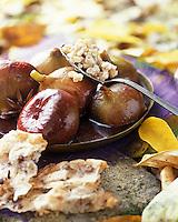 Europe/France/Provence-Alpes-Côte- d'Azur/84/Vaucluse/Avignon: Figues confites au miel et risotto d'épeautre Recette de Bruno d'Angelis chef du restaurant de l'hotel EUROPE