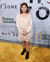 "09 May 2019 - Beverly Hills, California - Anna Pniowsky. National Geographic Screening of ""The Hot Zone"" held at Samuel Goldwyn Theater. Photo Credit: Billy Bennight/AdMedia"