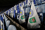 Flags and paper clappers in place to help create an atmosphere during the Carabao Cup match at the King Power Stadium, Leicester. Picture date: 8th January 2020. Picture credit should read: Darren Staples/Sportimage