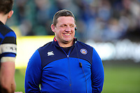 Bath Rugby first team coach Toby Booth is all smiles after the match. Aviva Premiership match, between Bath Rugby and Harlequins on February 18, 2017 at the Recreation Ground in Bath, England. Photo by: Patrick Khachfe / Onside Images