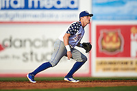 Lexington Legends second baseman Corey Toups (2) during a game against the Hagerstown Suns on May 22, 2015 at Whitaker Bank Ballpark in Lexington, Kentucky.  Lexington defeated Hagerstown 5-1.  (Mike Janes/Four Seam Images)
