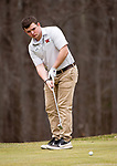 WATERTOWN,  CT-041119JS08-  Watertown's Andrew Cattaneo watch his putt during their match with Torrington Thursday at Crestbrook Park in Watertown. <br /> Jim Shannon Republican American