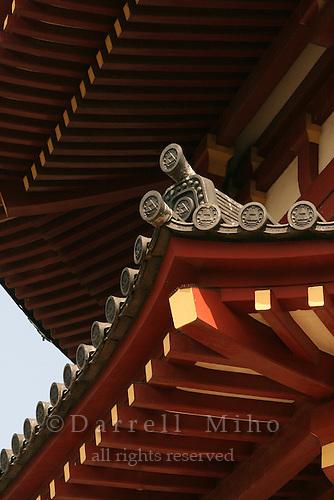 Mar 8, 2006; Tokyo, JPN; Ueno.Roof detail of Gojo Tenjinsha.  Ueno Park...Photo credit: Darrell Miho