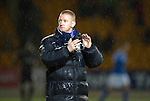 St Johnstone v Hibernian...26.11.11   SPL .Steve Lomas applauds at full time.Picture by Graeme Hart..Copyright Perthshire Picture Agency.Tel: 01738 623350  Mobile: 07990 594431