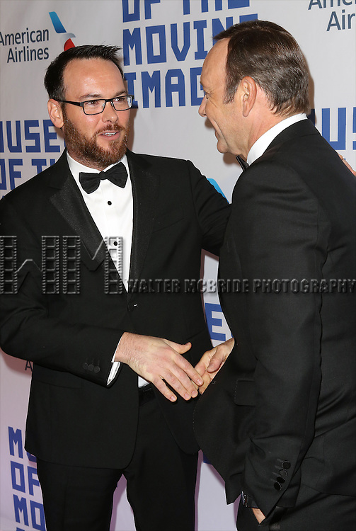 Dana Brunetti and Kevin Spacey attends The Museum of Moving Image Award honoring Kevin Spacey at 583 Park on April 9, 2014 in New York City.