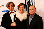 EFA president WIM WENDERS(L) with his wife and Swiss actorBRUNO GANZ(R) poses for the media as they arrives at 23rd European Film Awards