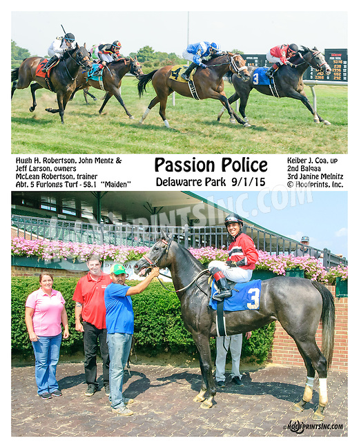 Passion Police winning at Delaware Park on 9/1/15