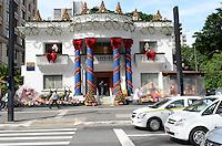ATENCAO EDITOR: FOTO EMBARGADA PARA VEICULOS INTERNACIONAIS. SAO PAULO, SP, 03 DE DEZEMBRO DE 2012 - Decoracao de Natal do Itau Personalite, na Avenida Paulista e vista na manha desta segunda feira, 03, regiao central da capital. FOTO: ALEXANDRE MOREIRA - BRAZIL PHOTO PRESS.