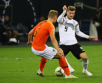Timo Werner (Deutschland Germany) gegen Matthijs de Ligt (Niederlande, Netherlands) - 06.09.2019: Deutschland vs. Niederlande, Volksparkstadion Hamburg, EM-Qualifikation DISCLAIMER: DFB regulations prohibit any use of photographs as image sequences and/or quasi-video.